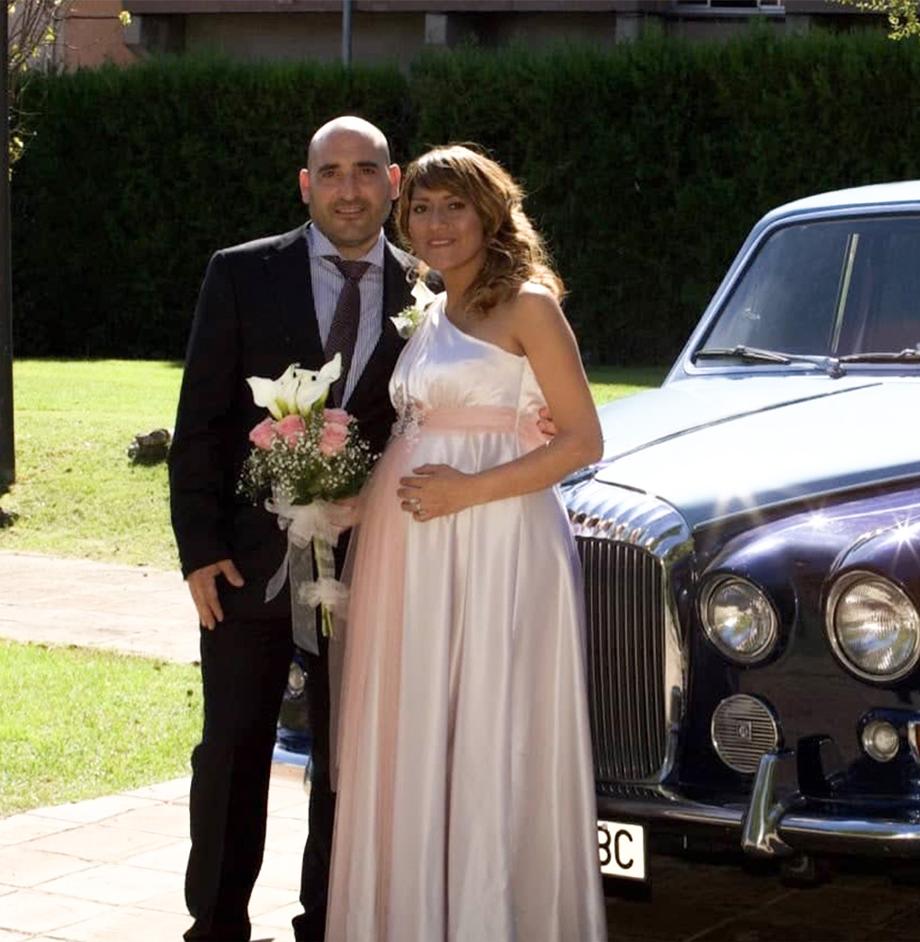 Vestido de novia embarazada a medida