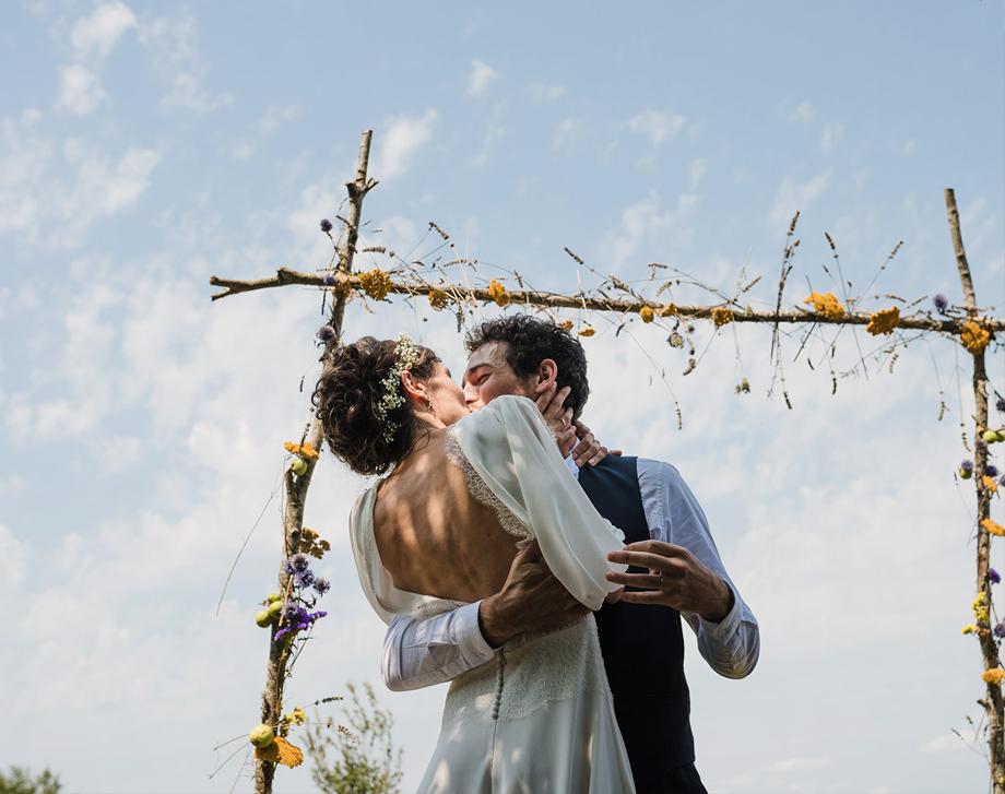 Vestido de novia estilo boho