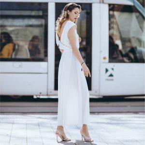 vestido de saten versatil