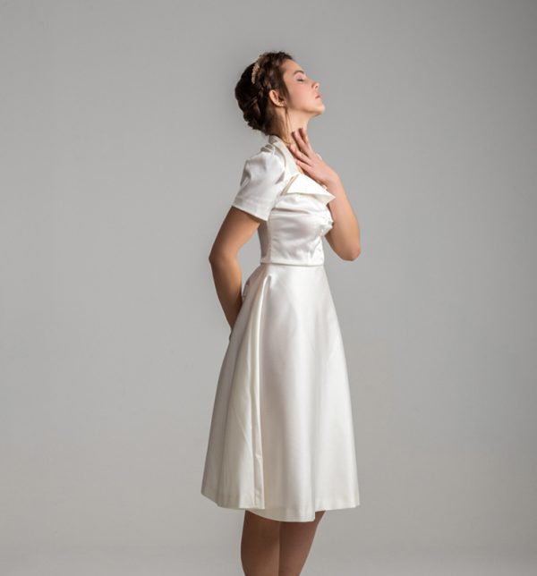 Vestido blanco retro años 50