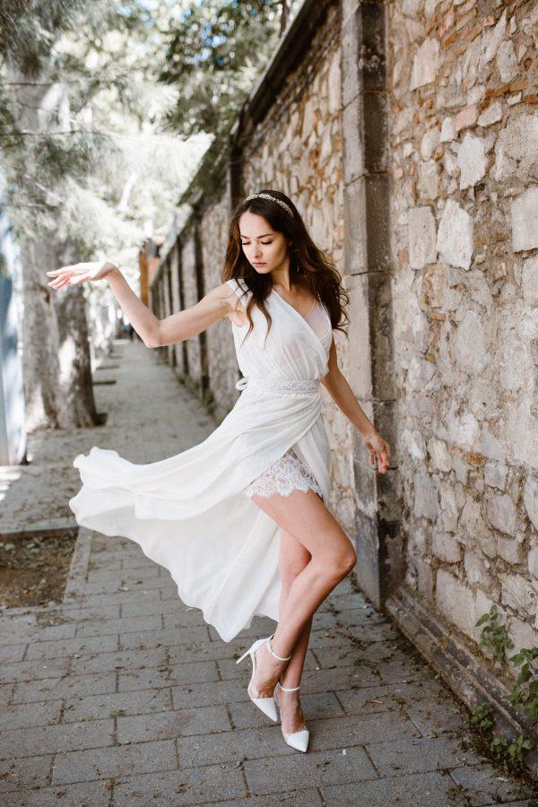 vestido de novia chifón ANGEL