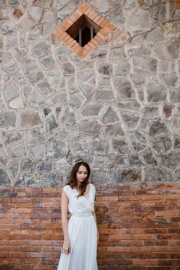 vestido de novia cruzado