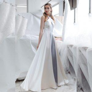 vestido de saten rayas
