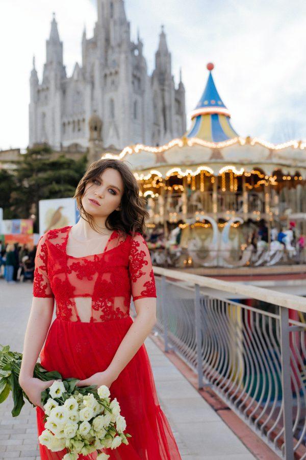 Vestido de fiesta de tu rojo