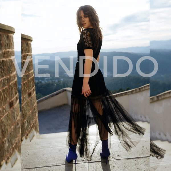 vestido de tul negro