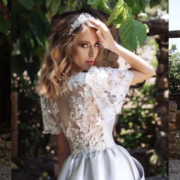 vestido plateado novias