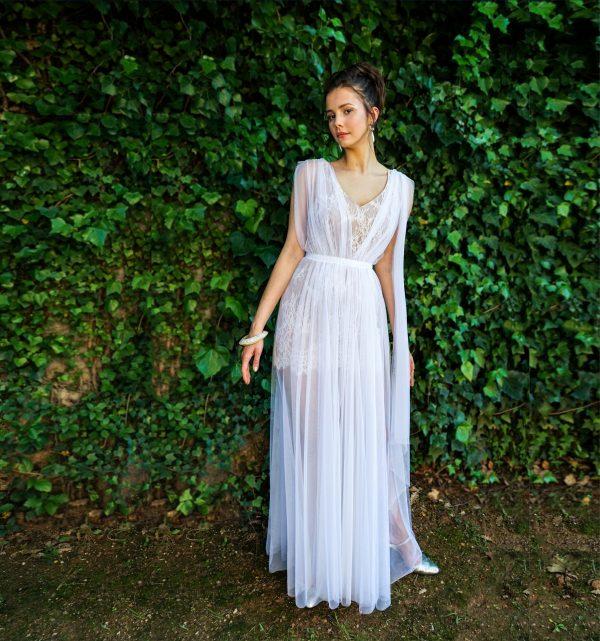 vestido de tul novia transformable
