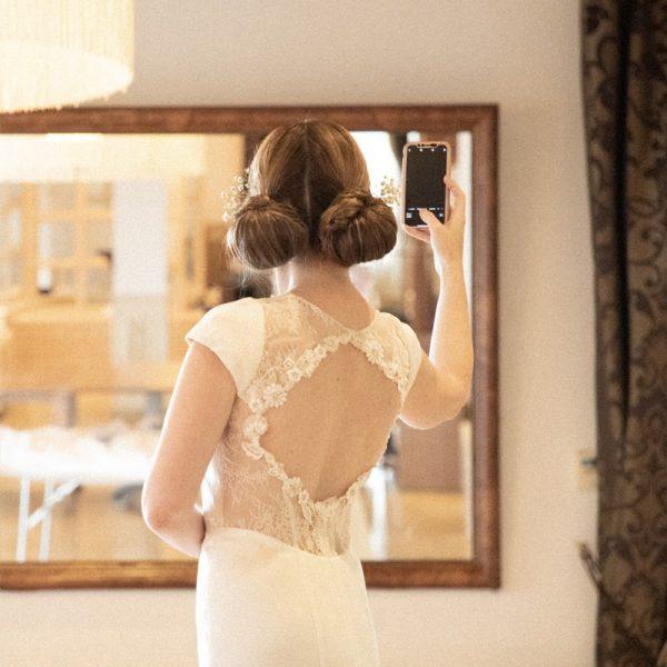 Vestido de novia único corte sirena