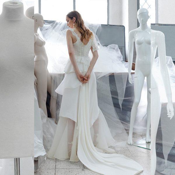 Vestido de novia con fantasia